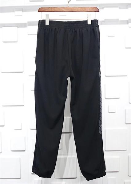 top popular Top Authentic Quality Kanye west Season 4 Crewneck Sweatpants CALABASAS Pants Men loose Joggers Comfortable Elastic Pants Hip Hop KMK0050-4 2019