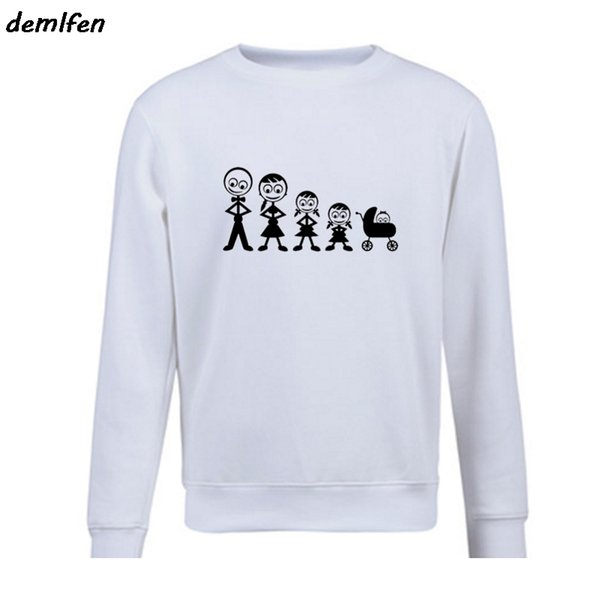 Novelty The Family Friendly Men's Hoodie Spring autumn Fleece Sweatshirts Tops Printing Casual Pullover coat Birthday Gift