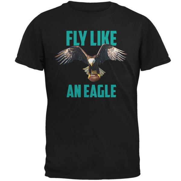 Volar como un águila Flying Football Mens Soft T Shirt