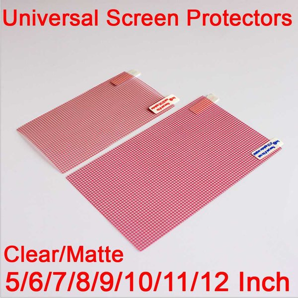 3pcs Clear/Mae LCD Screen Protector Cover 5/6/7/8/9/10/11/12 inch mobile Smart phone Tablet GPS MP4 Universal Protective Film