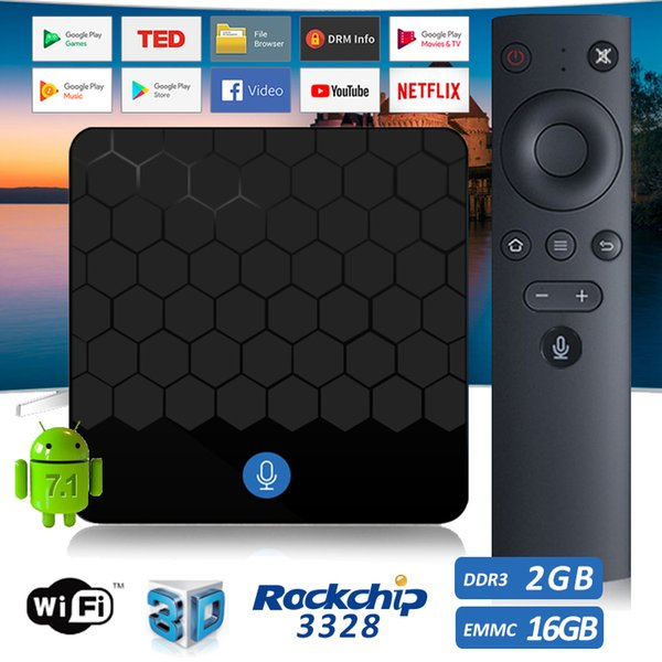 Voice control android tv box Google play full installed X88 Rockchip android tv set top box voice remote 2GB 16GB Media box for television