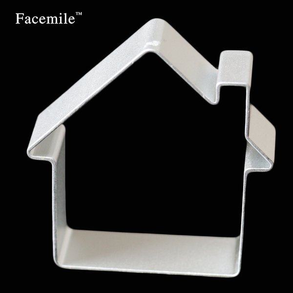Wholesale- 1PCS House Shaped Aluminium Mold Sugarcraft Cake Decorating Cookies Baking Pastry Cutter Mould Tool baking tools for cakes 20-12