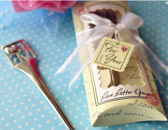 (30 Pieces/Lot) Unique Wedding favors of Chrome love letter opener Wedding anniversary party favors and wedding keepsake gift
