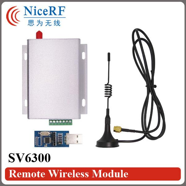 2PCS SV6300 3W 433mhz RS485 Long Range Uart RF Module+2PCS Sucker Antennas +2PCS USB to RS485 Board+2PCS Power Supply Adapter