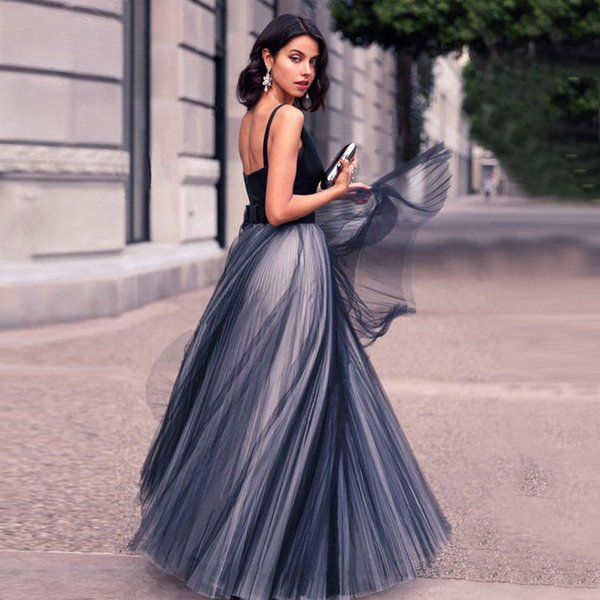 Royal Blue Deep V Neck Prom Dresses with A Line Sleeveless Stain Formal Evening Gowns Party Dresses Custom Made Plus Size 2019