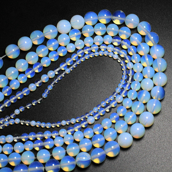 8mm wholesale Natural Stone Opal Quartz Loose Round Beads For Jewelry Making DIY Bracelet Necklace 4 6 8 10 12 mm Strand 15''