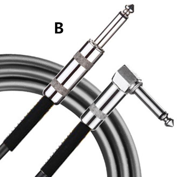 Cable de la guitarra Cable de conexión de audio Adecuado para instrumentos musicales electrónicos como micrófonos amplificadores mezcladores 3M