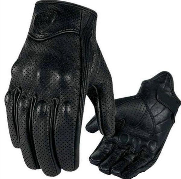 Guanti Moto Racing 2018 Guanti moto in pelle ciclismo Guanti moto pelle traforata colore nero M L taglia XL