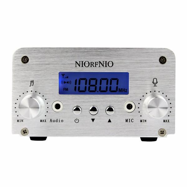NIORFNIO 1W / 6W PLL FM Transmitter Mini Radio Stereo Station Broadcast mit LCD Display Nur Host für FM Radio Y4339D