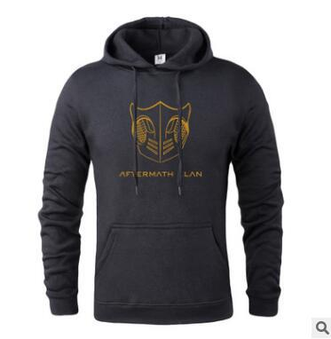 2018 Top Sale Autumn New Hoodies Men Letter Print Fashion Plus Size Hooded Sweatshirts High Quality Brand Clothes