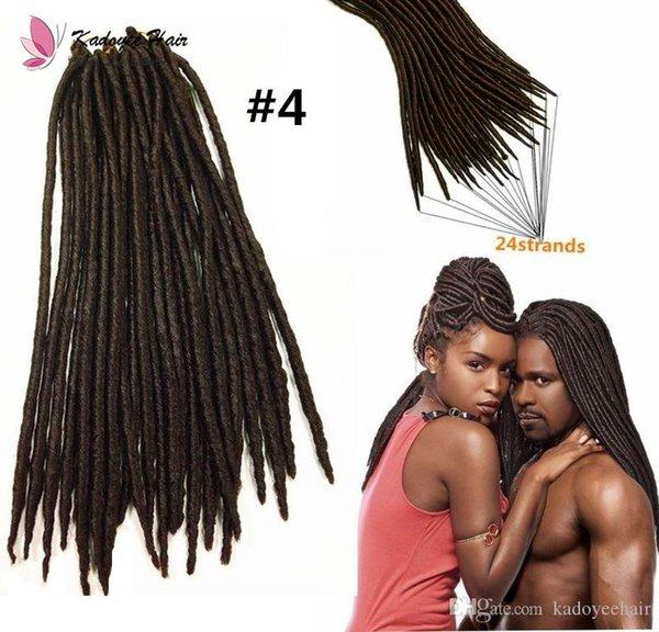 "Long hair twist 18"" New soft dread lock twist faux locs crochet black dreadlocks hair kanekalon synthetic Havana Mambo braids crochet hair"
