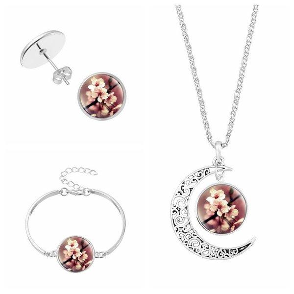 Arbre de Vie Verre Cabochon Tibet Silver Bangle Bracelets Fashion