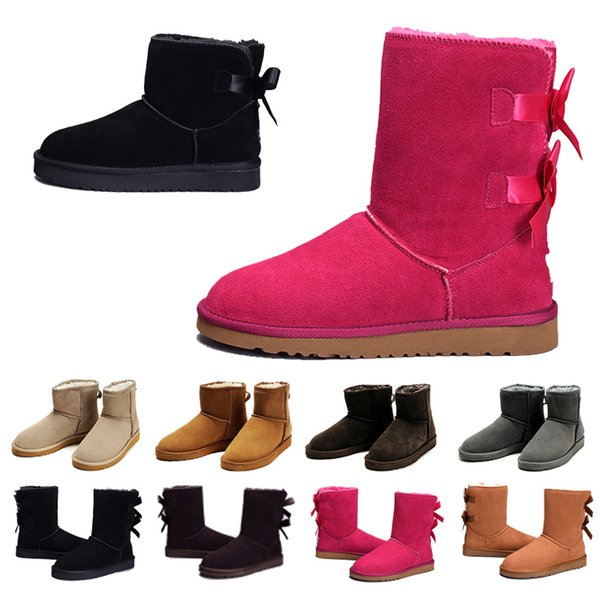 871e639229286 2018 Hot Sale Women's Australia Classic WGG tall Boots Women girl Snow boots  real leather bailey