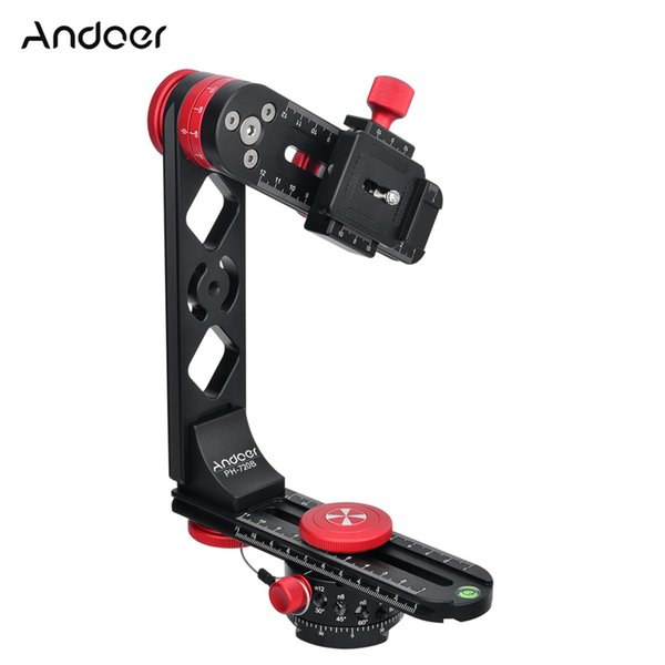Andoer PH720B 720 Degree Ball Head Quick Release Plate Panoramic Head Aluminium Alloy Carry Bag for Nikon Canon Sony DSLR Camera