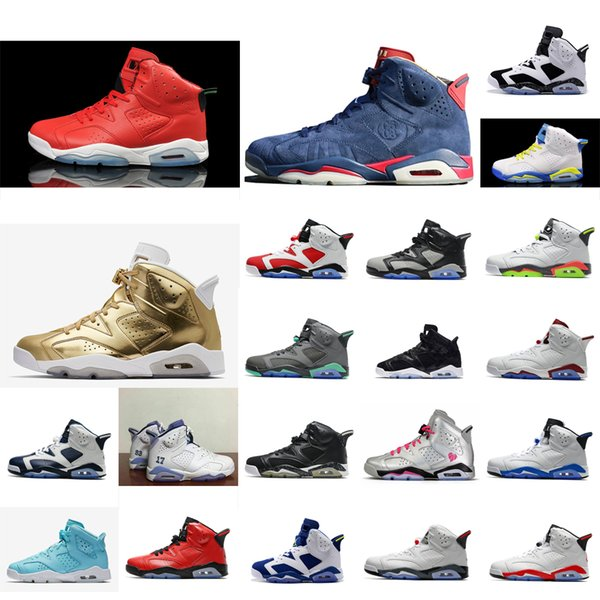Cheap Mens Retro 6s basketball shoes MVP Red Gold Doernbecher DB Blue Oreo for sale AJ6 Jumpman VI air flights sneakers boots J6 with box