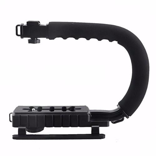 PRO CC-VH02 C Shape Flash Handle Handle Camera Camcorder Stabilizing Stabilizer Handheld Grip para DSLR DV Video Black