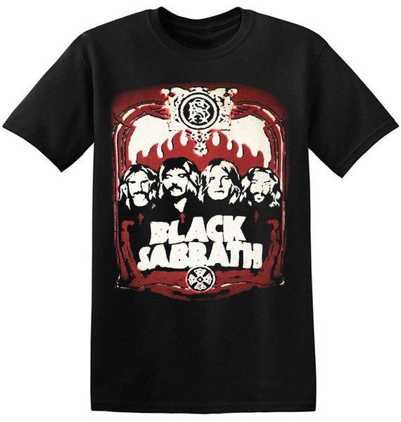 Siyah Sabbath T Gömlek Klasik Vintage Rock Grubu Yeni Grafik Baskı Tee 1-A-019 Kısa Kollu Pamuk Moda Ücretsiz Kargo