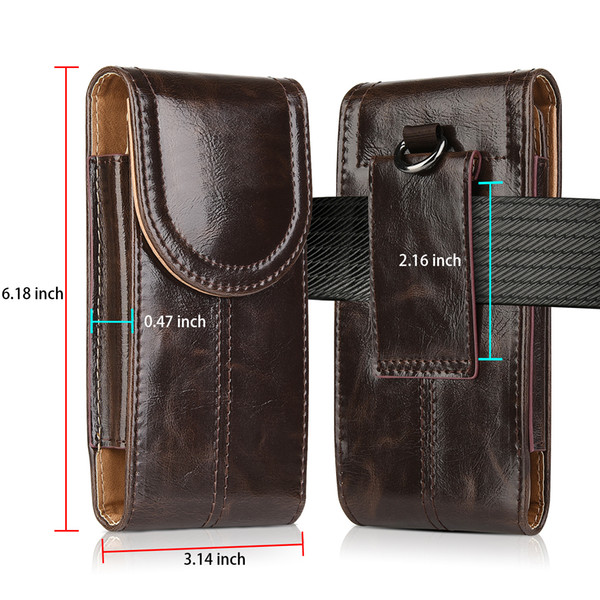 Luxury Vertical Leather Case Pouch Belt Clip Holster For iPhone 6/7/8 S Plus For Universal 5.5Inch Cell Phone Case Wholesale Price