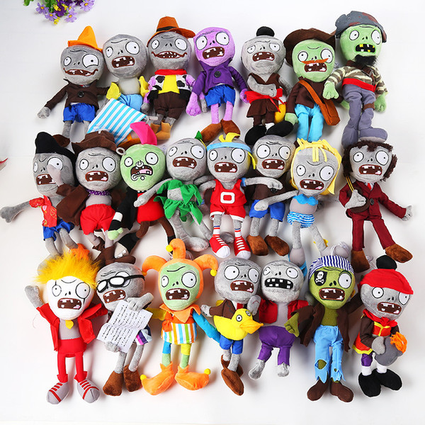 """High Quality 100% Cotton 11.8"""" 30cm Plants Vs Zombies Plush Toy For Child Holiday Gifts Wholesale"""