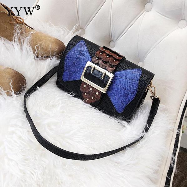 YYW Pu-leder Pailletten Umhängetaschen Hit Farbe Umhängetasche Marke Bowknot Muster Baobao Hohe Qualität Taschen Feminina Sac Ein Haupt
