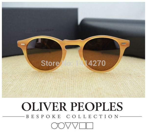 Hot!Vintage mens and womens sunglasses No BurdenOliver Peoples Gregory Peck5186 sunglasses polarized retro designer