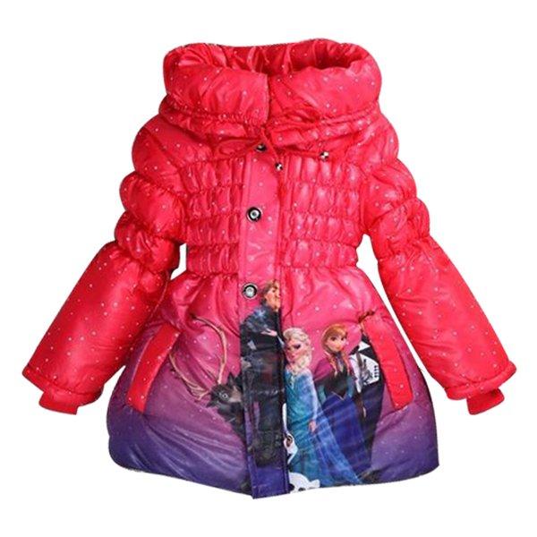 Großhandel Mädchen Winter Cartoon Daunenjacke Cinderella Weihnachten Mantel Kinder Kostüme Oberbekleidung Baby Kinder Kleidung Schnee Jacke Von