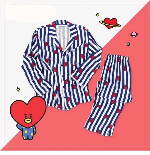 Bts Conjuntos de Pijama Kpop Bangtan Meninos BT21 Versão Dos Desenhos Animados V Suga Mesmo Harajuku Pijamas Camisa Nighty Homens Mulheres Bedgown Pijamas Set