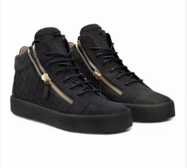 Hot Sales Fashion Brand Shoes Men Women Casual Low Top Black Leather Sports Shoes Double Zipper Flat Men Sneakers Iron Sheets Shoes chao0011
