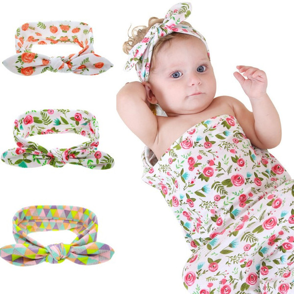 Infant Newborn Toddler Swaddle Blanket Baby Sleeping Bag Headband Hello World TR