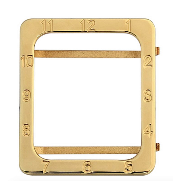 luxury exquisite number engraved Square gold plated bezel for Apple Watch series 1 2 3 electroplating gold watch cover 38mm 42mm
