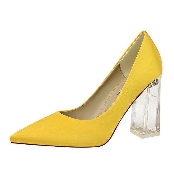 Bride's wedding Pointed TOE high heels female fine with waterproof platform bow party high-heeled shoes FALL EU35-43