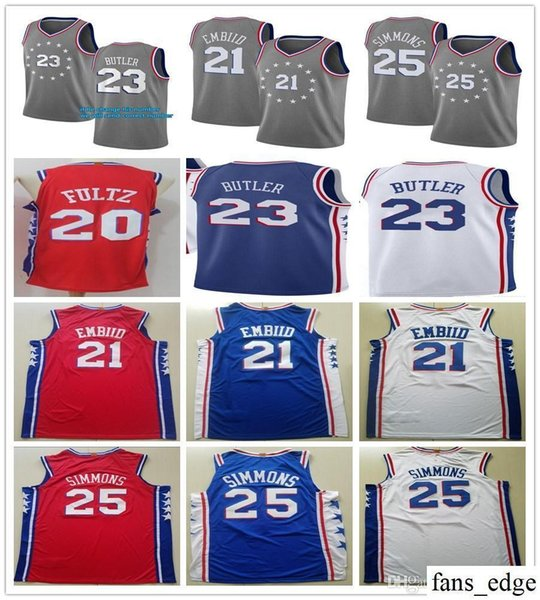 sports shoes 9782d 10c11 2018 New City Edition Grey 23 Jimmy Butler Jerseys 25 Ben Simmons 21 Joel  Embiid J.J. Redick Markelle Fultz Allen Iverson Jersey Stitched From ...