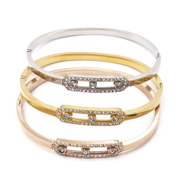 Titanium Steel Love Bracelets en argent rose or Bracelets Femmes Hommes Vis Tournevis Bracelet Couple Bijoux avec cadeau original