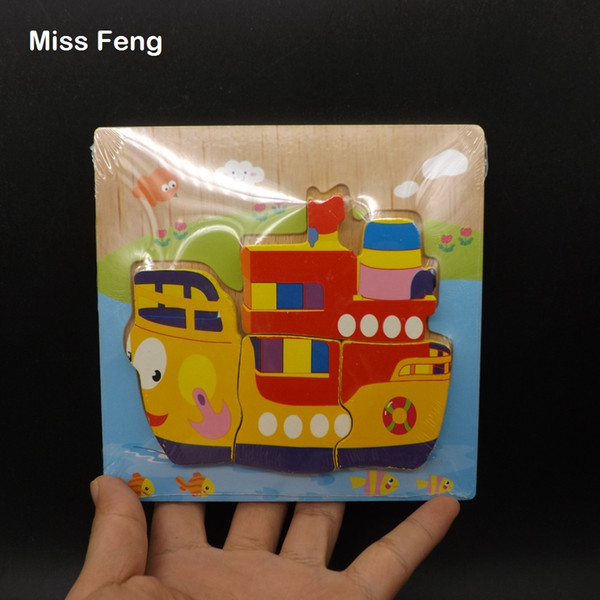 Funny Model Wooden Puzzle Liner Model Assorted Baby Toy Jigsaw Gift Kid Birthday Gift Christmas Gift