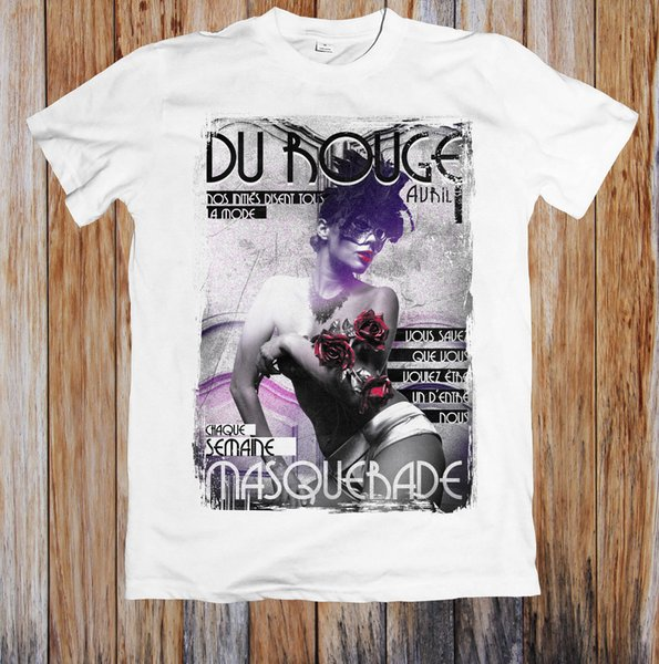 DU ROUGE MASQUERADE SEXY UNISEX T-SHIRT Tees Custom Jersey t shirt hoodie hip hop t-shirt jacket croatia leather tshirt