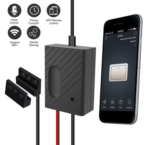 Garaj Kapısı Denetleyicisi Garaj Kapısı Açacağı için Akıllı WiFi Anahtarı APP Uzaktan Kumanda Zamanlama Ses Kontrolü Alexa Google Ev Için