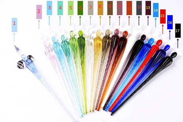 best selling Glass Drip Fountain Pen Vintage Glass Dip Dipping Pen Signature Filling Ink Fountain Pens With Gift Box New