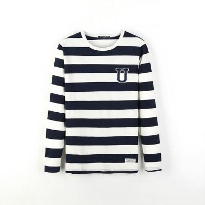 a3933ecd452e utumn outfit young students han edition men long sleeve T-shirt cotton black  and white