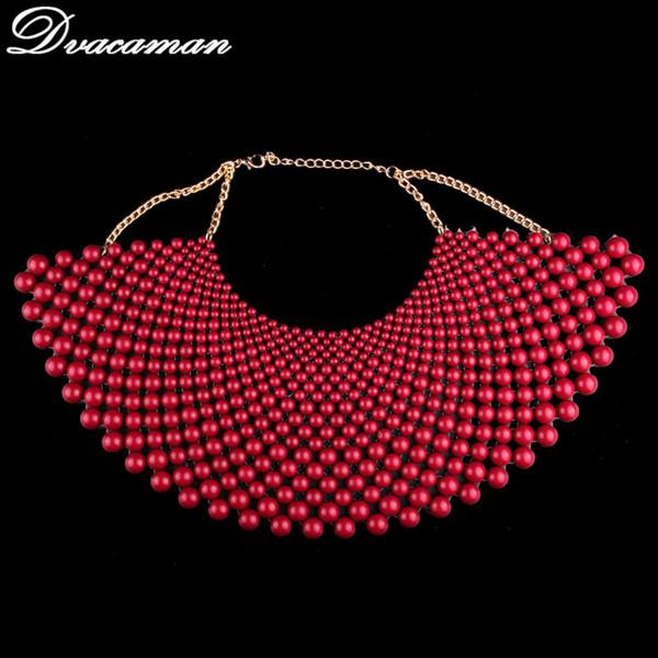 Commercio all'ingrosso di marca gioielli indiani fatti a mano in rilievo collane di dichiarazione per le donne collare perline choker maxi collana abito da sposa