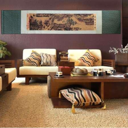 Китайское искусство шелк прокрутки картины китайские традиционные известные картины искусства моделирования творческих стены продвижение картины домашнего декора