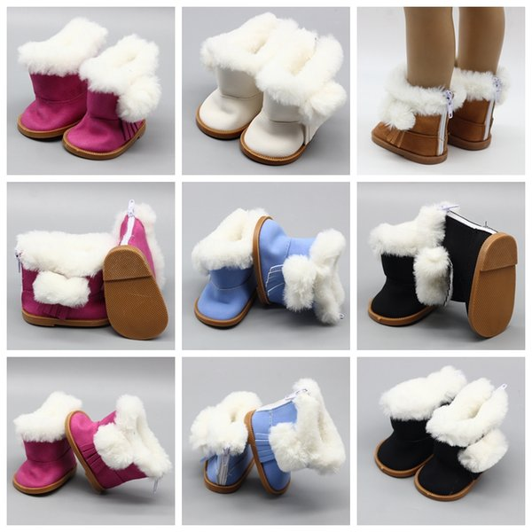 Doll Accessories Fashion Snow Boots Winter Boots for girl BJD 18 Inch Baby Doll Toys For Gift Kids Toys GGA857