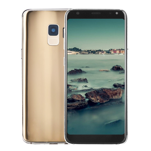 Cheap 5.5 inch Goophone S9 2G GSM Unlocked Dual Core MTK6572 512MB 512MB+32GB Android 7.0 GPS WiFi 2MP Camera Dual Nano Sim Card Smartphone