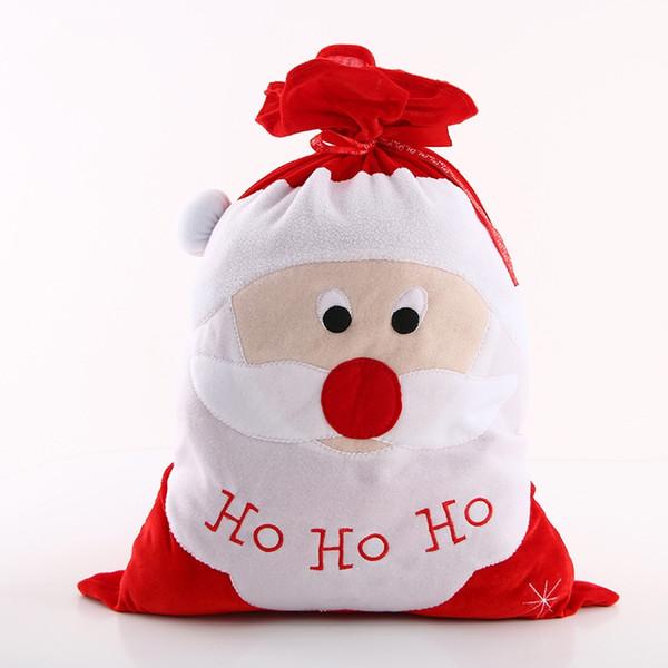 Christmas Eve Decor Gifts Bags Santa Claus Stocking Big Red Creative Tuba Reusable Storage Gift Bag Home 12 8mg jj