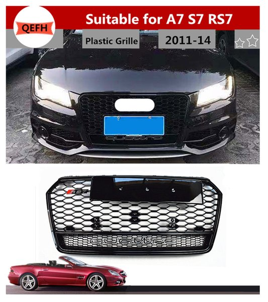 NEW GENUINE AUDI A7 RS7 CHROME RS7 FRONT GRILL BADGE EMBLEM WITH SECURING CLIP