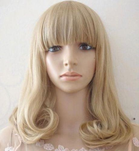New Cosplay Party Lolita Wig Women Girl Long Curly Wavy Blonde hair full Wigs