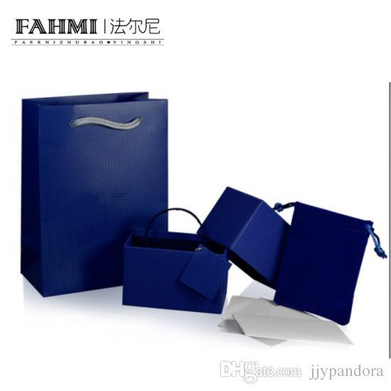 FAHMI Luxury Bracelet Box Set Classic Jewelry Protective Box Packaging Gift Bag Velvet Bag Card Charming Chic Women's Luxury Products