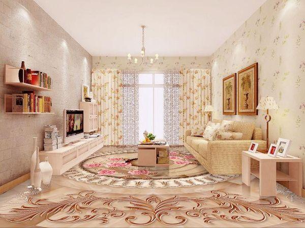 Großhandel Benutzerdefinierte 3d Bodenbelag Golden Rose Marmor Relief  Bodenbelag Wasserdichte Tapete Für Bad 3d Bodenbelag Fototapete 3d Von ...
