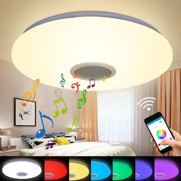 Großhandel Moderne Bluetooth Lautsprecher Deckenleuchte Fernbedienung RGB  LED Musik Lampe Dimmbare Wohnzimmer Beleuchtung Smart Room Von Fried,  $49.42 ...