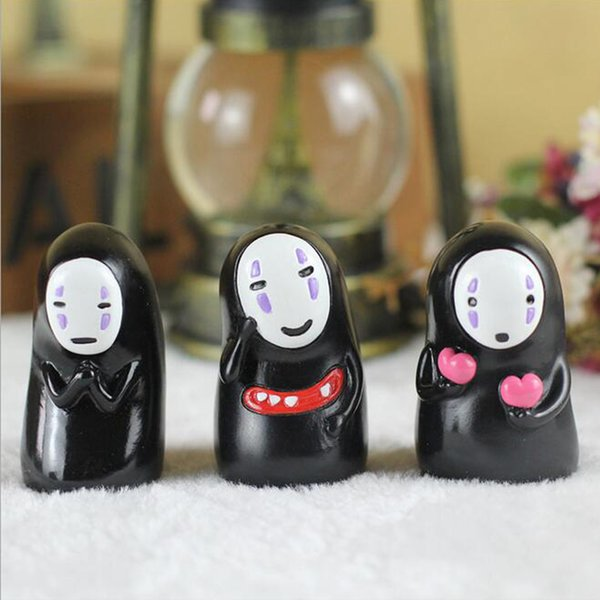 Lovely Ornament Creative Miyazaki Spirited Away No Face Man Doll Fidget Toys Car Lovers' Ornament Home Party Decoration Toys Gift Collection