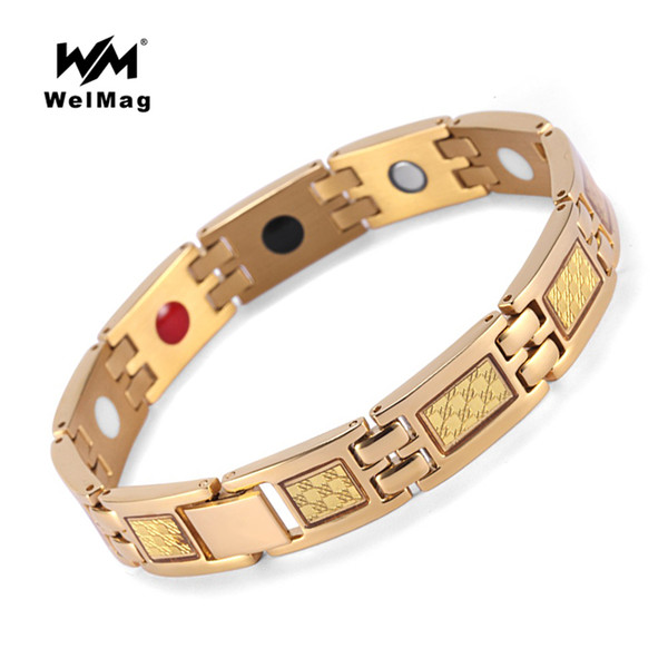 WelMag Magnetic Bracelet Top Quality Fashion Healing Therapy Germanium Bracelet Arthritis Pain Relief Bio Energy Bangles Jewelry